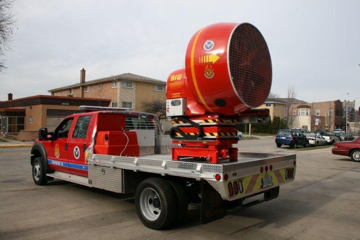 Ford PPV Fan unit Lyons Fire dept back
