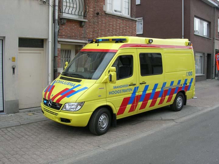 Ambulance brandweer Hoogstraten Belgium