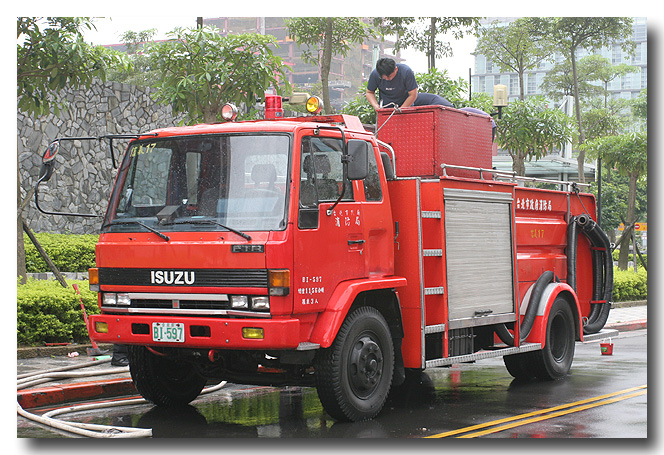 Isuzu FTR medium pumper Taiwan
