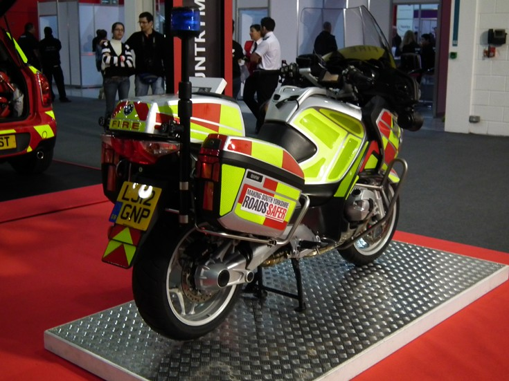 Fire & Rescue motorbike back