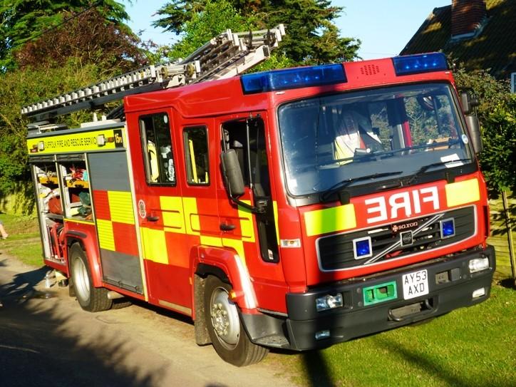 Fire Engines Photos Volvofl614 Saxon Wrl Suffolk Frs Ay53axd