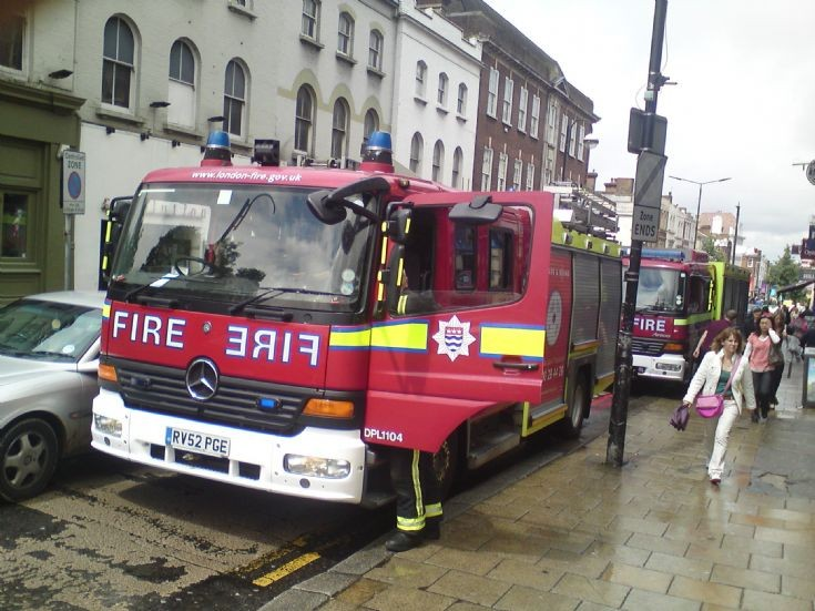 Outside Sutton Station LFB Mercedes