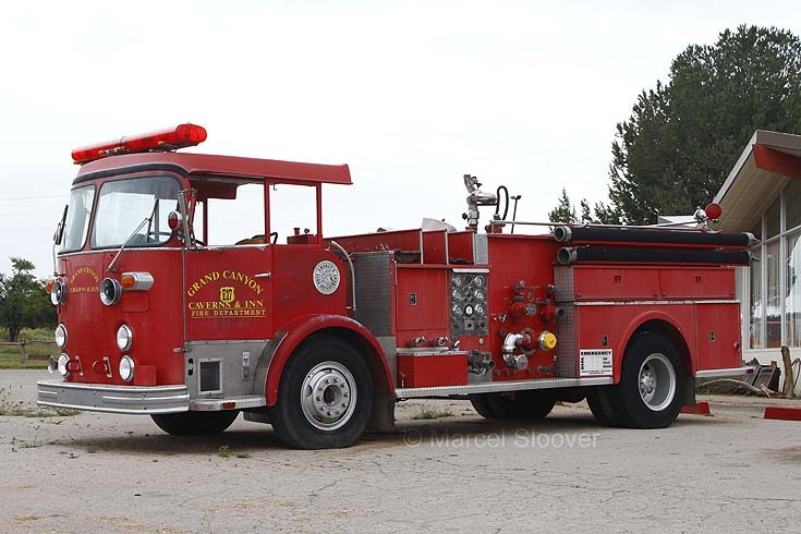 Crown Fire engine at route 66 Arizona