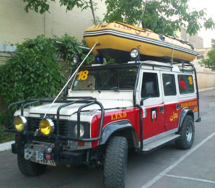 Hyundai Pazhan water rescue car in Esfahan (Iran)