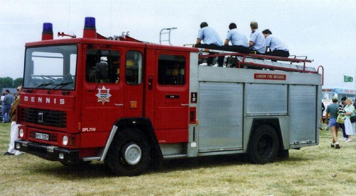 Erith Dennis London Fire Brigade NYV709Y