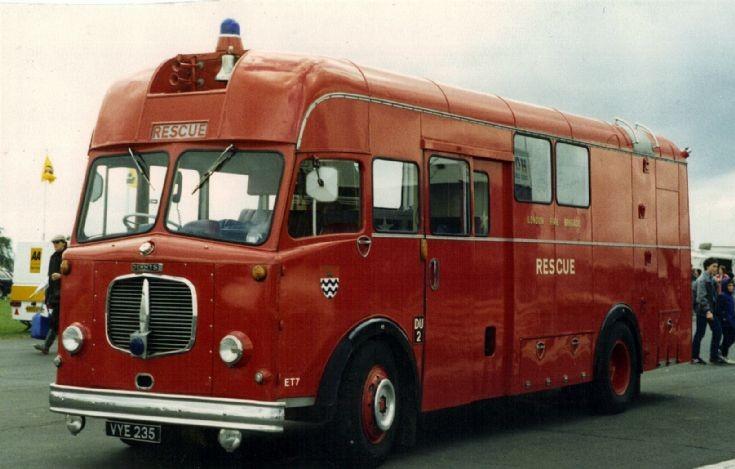 Dennis ET VYE235 London Fire brigade