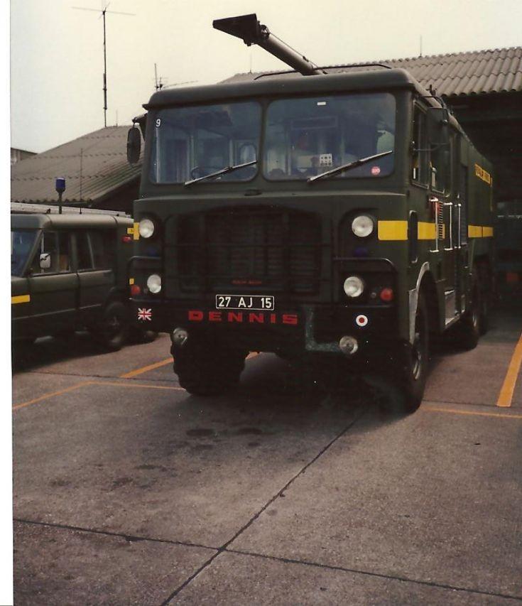 RAF fire service 1980's Dennis 27AJ15