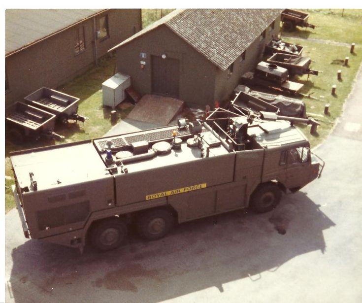 RAF fire service 1980's Mk11 Crashtender