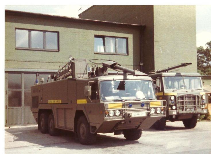 RAF fire service 1980's Crashtenders Gutersloh