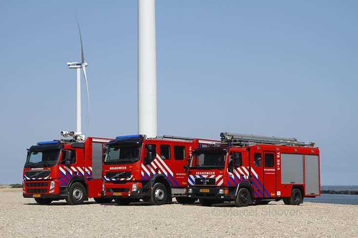 Line up equipment Fire station Maximaweg
