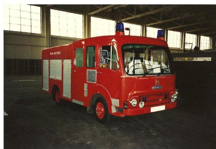 RAF fire service 1980's Bedford Catterick