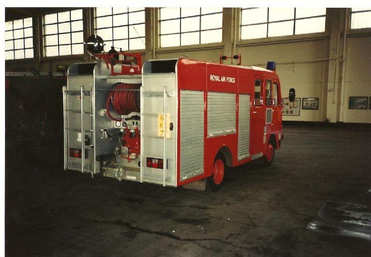 RAF fire service 1980's Bedford back