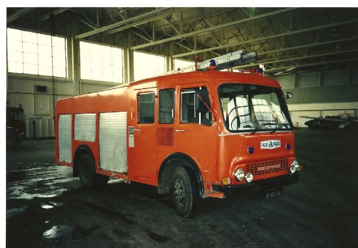 RAF fire service 1980's Bedford 31AG46