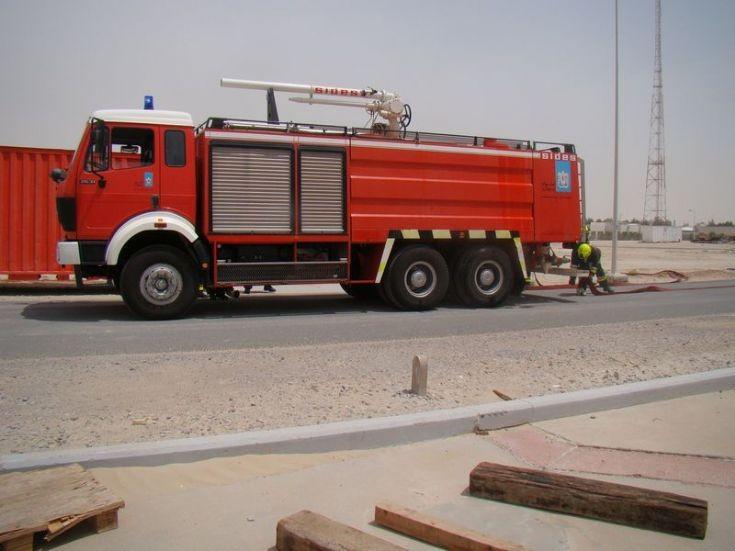 Sides Fire Truck Habshan plant UAE