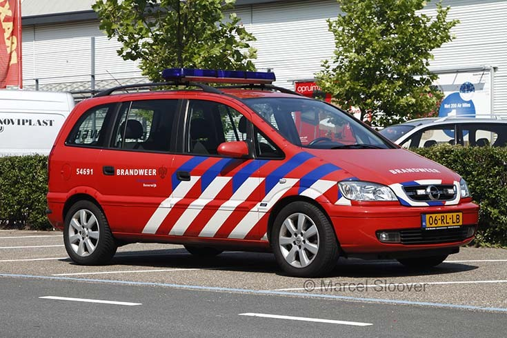 Opel Zafira Brandweer Beverwijk