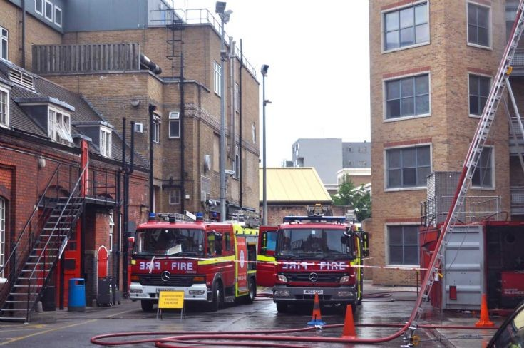 Fire drill behind LFB Museum
