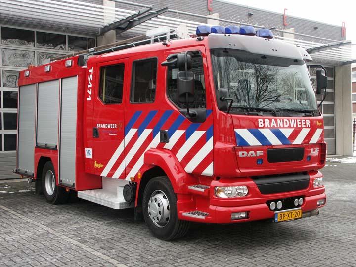 Brandweer Ridderkerk DAF Watertender