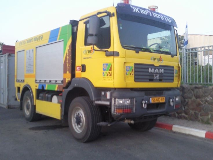 Fire Truck of the Jewish National Fund from israel