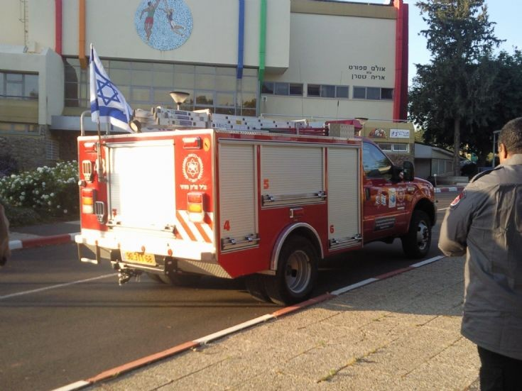 small fire truck from israel