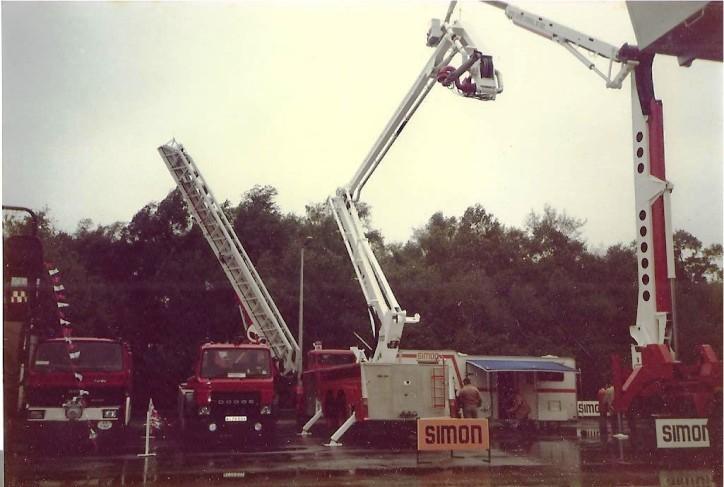Simon stand NEC Birmingham 1984