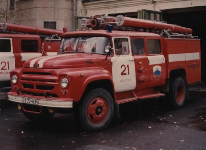 Picture of Moscow Fire Brigade Zil 130 pumper