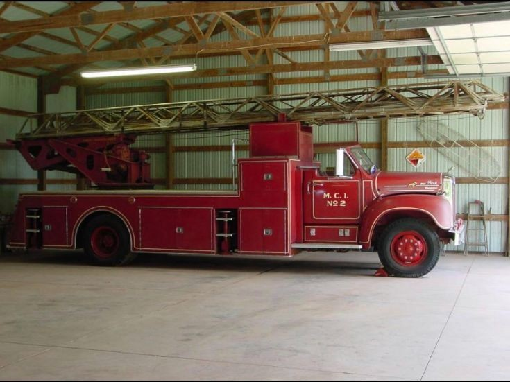 1957 Mack with 100 foot Magirus turntable ladder