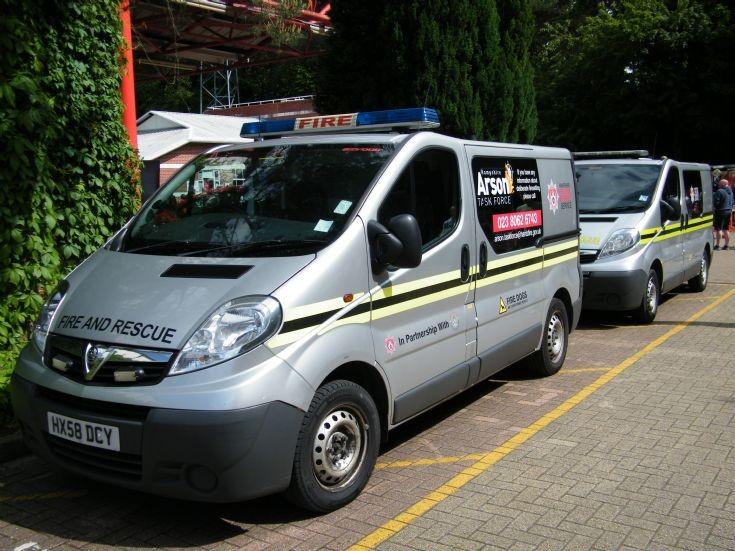 Hants Fire Dog Vans
