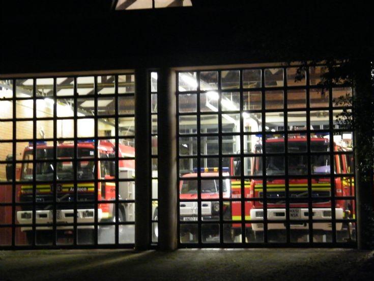 Bordon Fire Station at Night