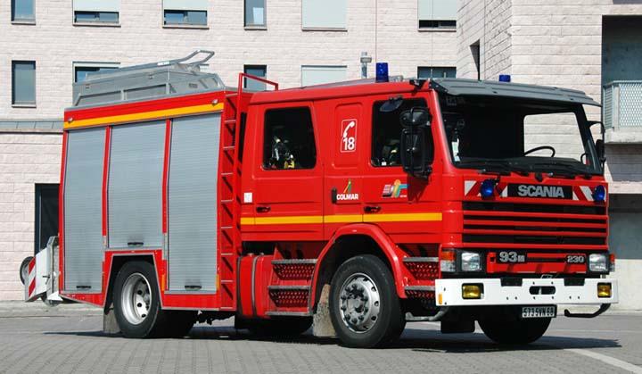 Sapeurs Pompiers Colmar Scania pump
