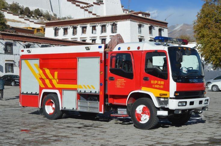 China Tibet Lhasa Isuzu fire appliance