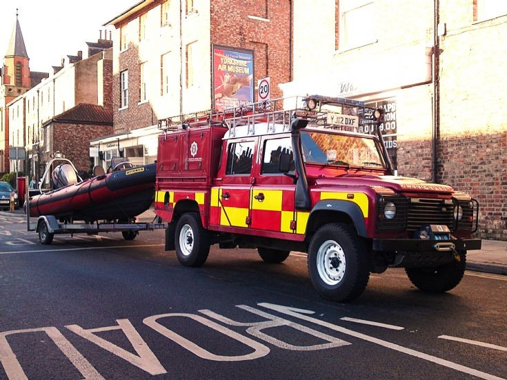 Landrover swift water rescue unit