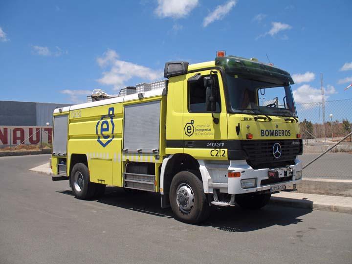 Bomberos Gran Canaria Mercedes 2031