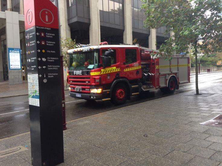 Fire Truck in Perth, Western Australia CBD