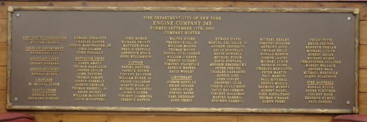 FDNY E 343 Chiefs lost on 9-11-2001