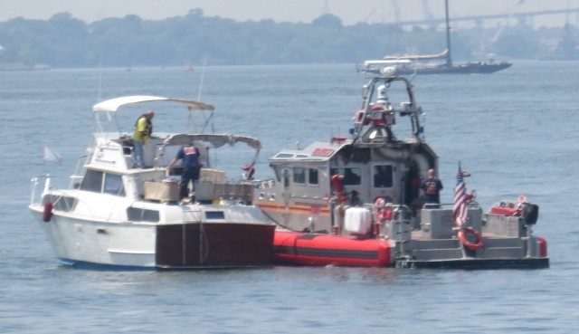 FDNY Bravest alongside boat in distress