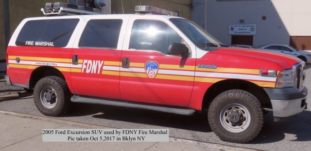 FDNY Fire Marshal's car