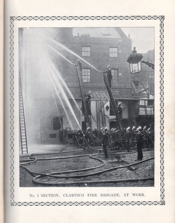 Clarnico fire brigade Hackney E London