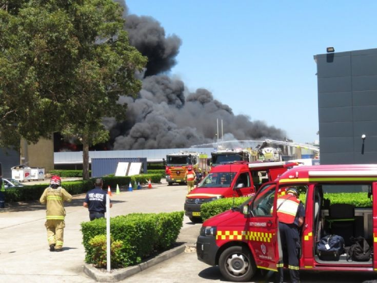 10TH ALARM FACTORY FIRE AT SEVEN HILLS, SYDNEY