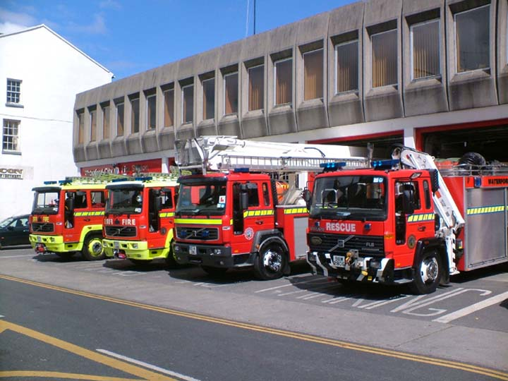 Fire Engines Photos - Line-up Waterford Fire station Ireland