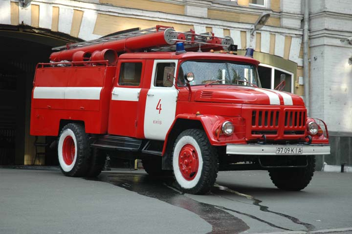 Kiev Fire brigade Ukraine Zil