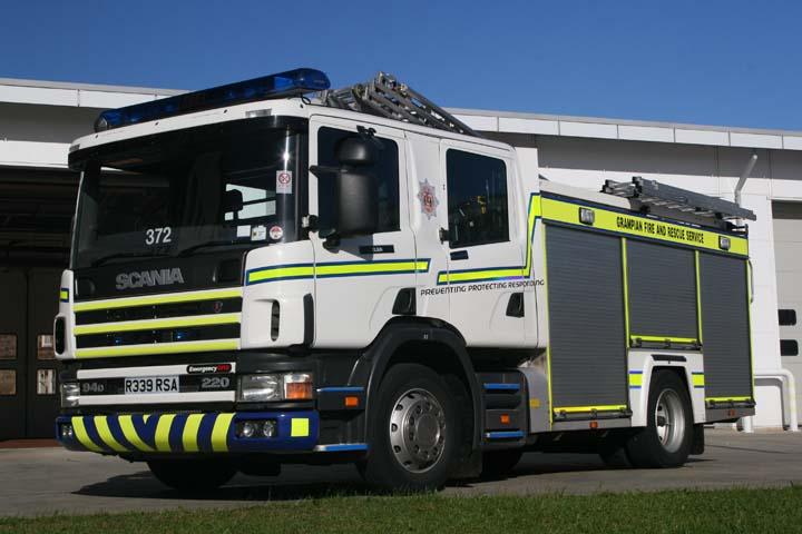 Elgin Fire station Grampian Scania WRL R339 RSA