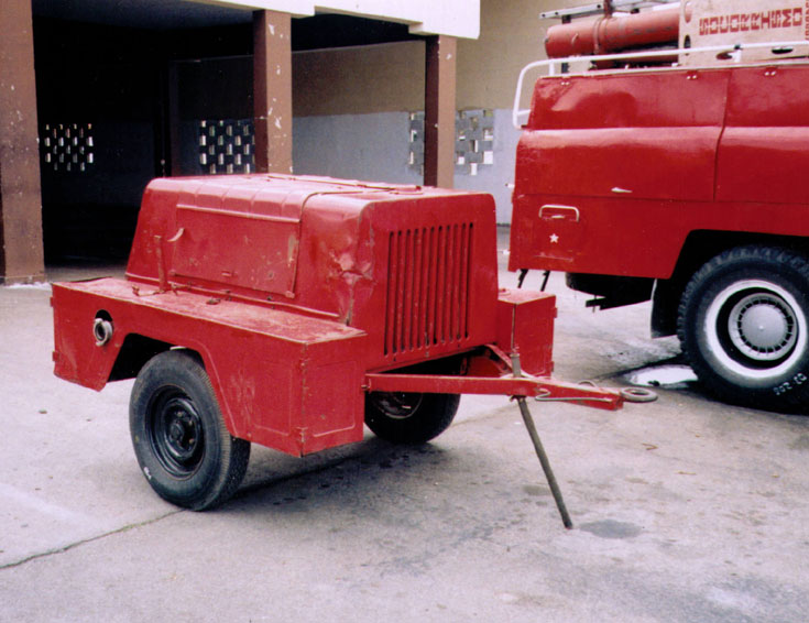 Russian Trailer Pump in Varadero, Cuba