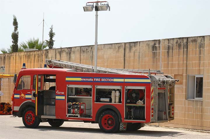 Enemalta Fire team Bedford TK Malta