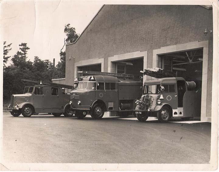 Elgin Fire Station Grampian 1953