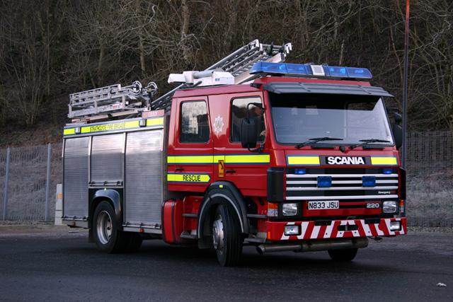Oban Fire service Scania