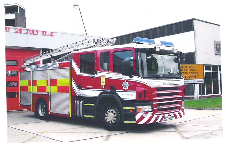 West Sussex FRS Scania WrL at Worthing