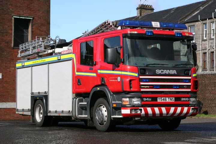 Strathclyde FRS Dumbarton Scania 94D