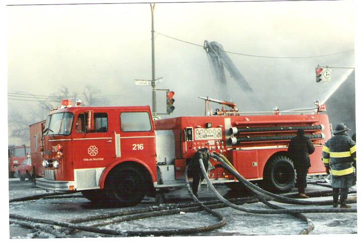 Montreal Fire Dept Engine 216, Thibault pumper