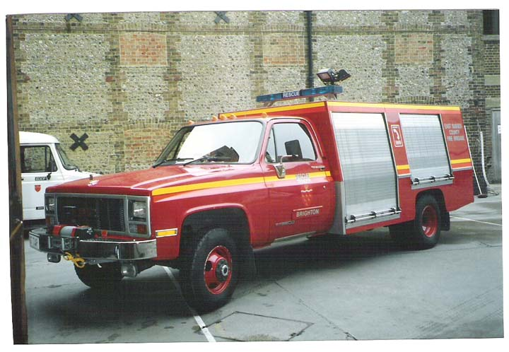 East Sussex Fire brigade GMC Rescue Tender
