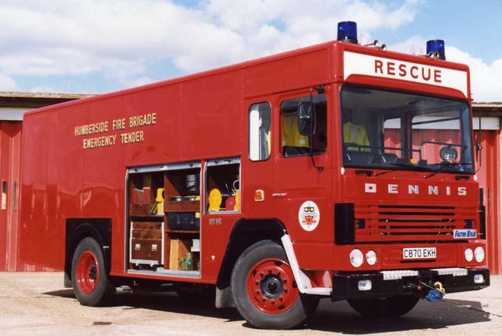 Humberside Emergency Tender Dennis SS135
